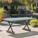 Chalmette Grey Rectangle St 1 Outdoor Dining Table