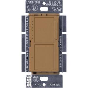 Maestro 300-Watt Single-Pole Dual Dimmer and Switch - Terracotta