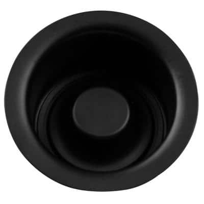 Extra-Deep Disposal Flange and Stopper in Matte Black