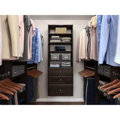 Premier 25 in. W Espresso Wood Closet Tower