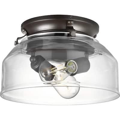 Springer Collection 2-Light Architectural Bronze Ceiling Fan Shade LED Light Kit