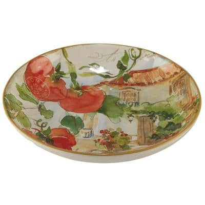 Piazzette Multi-Colored 13 in. x 3 in. Serving/Pasta Bowl