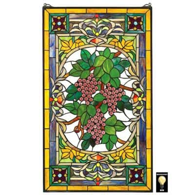 Fruit of the Vine Stained Glass Window Panel