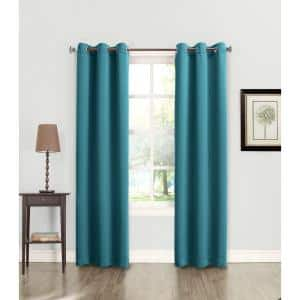 Marine Solid Grommet Room Darkening Curtain - 40 in. W x 84 in. L
