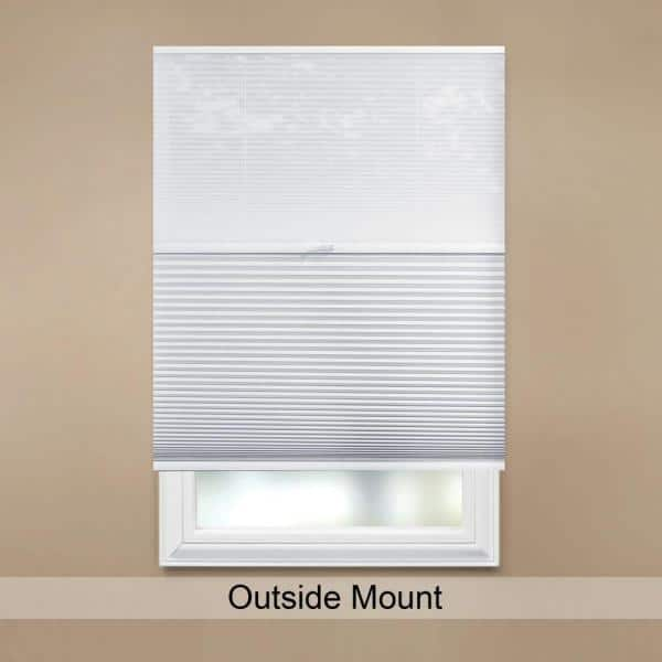 Home Decorators Collection Snow Drift Shadow White Cordless Day And Night Blackout Cellular Shade 30 In W X 48 In L 10793478907533 The Home Depot