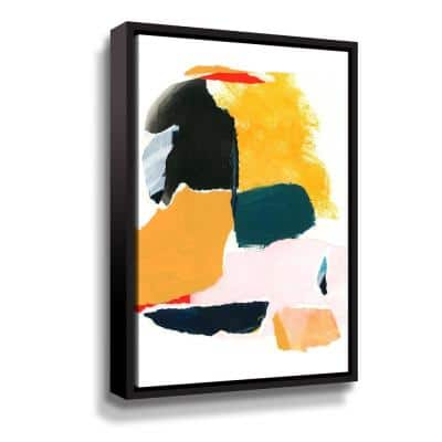 'Collage Studies 18-02' by  Iris Lehnhardt Framed Canvas Wall Art