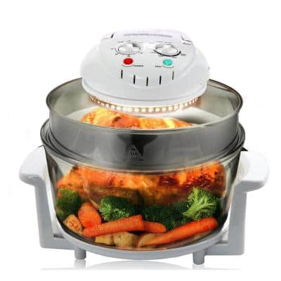 9 Qt. White Electric Halogen Multi-Cooker