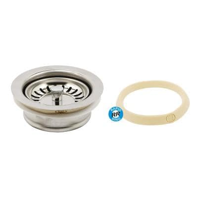Garbage Disposal Flange with Strainer Basket 3-1/2 in. Chrome with Putty