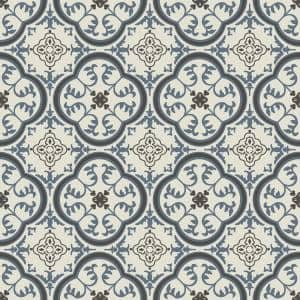 Soho Blue and Grey Decorative Residential/Light Commercial Vinyl Sheet Flooring 13.2ft. Wide x Cut to Length