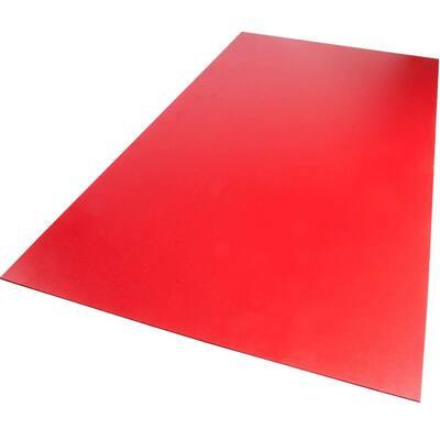 18 in. x 24 in. x 0.118 in. Foam PVC Red Sheet