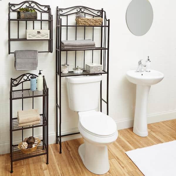 Collins 14 50 In W Metal Bathroom Floor Shelf Cpbs1303a1e The Home Depot