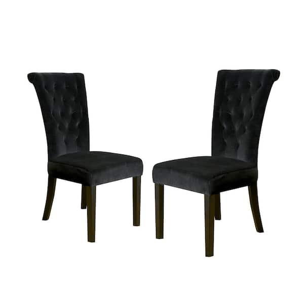 Noble House Venetian Black Velvet, Black Velvet Dining Room Chairs