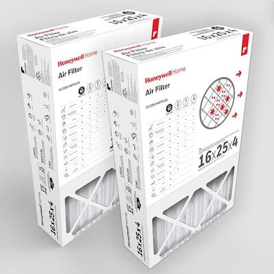 16 x 25 x 4 Pleated MERV 12 - FPR 10 Air Filter (2-Pack)