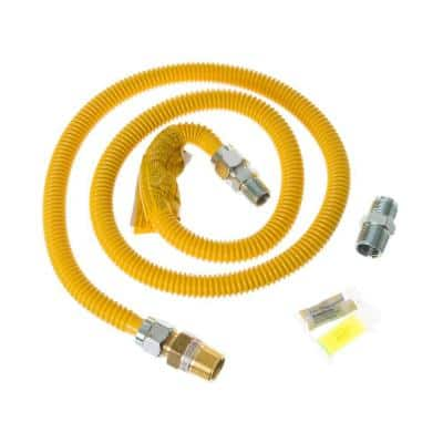 5 ft. Gas Dryer Connector Kit with Auto Shut Off (CA)