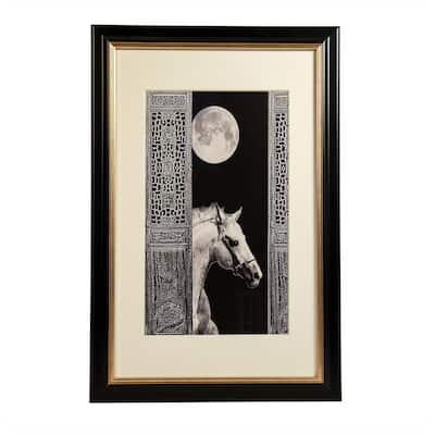 Moon and Horse Wall Art Print