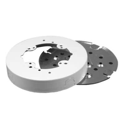 Wiremold 500 and 700 Series 4 in. Solid Base Round Fan Box