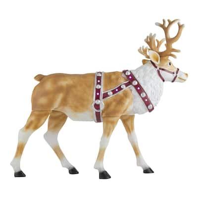 4.5 ft Blow Mold Reindeer with LED Lights Yard Sculpture