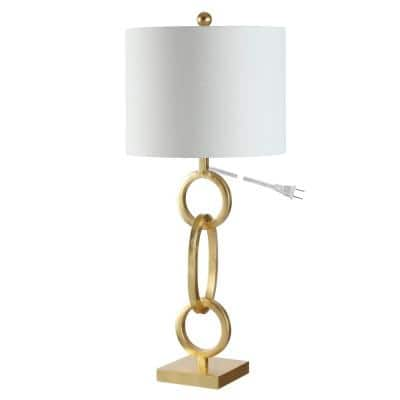 Alaia 29.5 in. Gold Table Lamp with White Shade