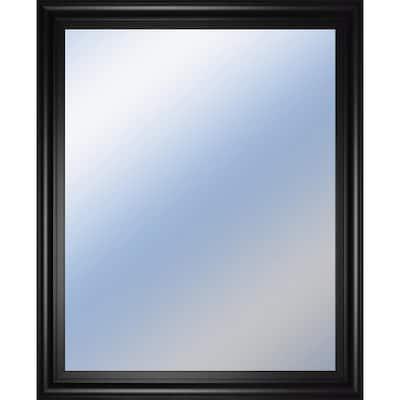 Medium Rectangle Brown Modern Mirror (34 in. H x 40 in. W)