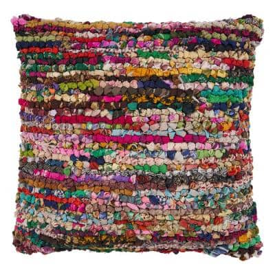 Motley Multicolored Graphic Stain Resistant Polyester 26 in. x 26 in. Throw Pillow