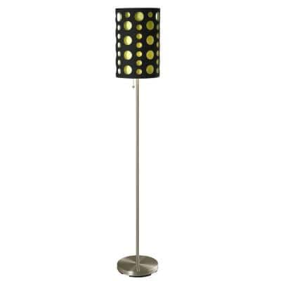 Ore International 62 In Black And Green Stainless Steel High Modern Retro Floor Lamp 9300f Bk Gn The Home Depot