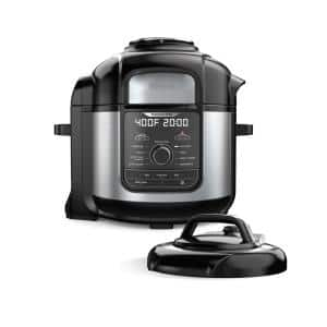 Foodi Deluxe 8 qt. Black Electric Pressure Cooker and Air Fryer