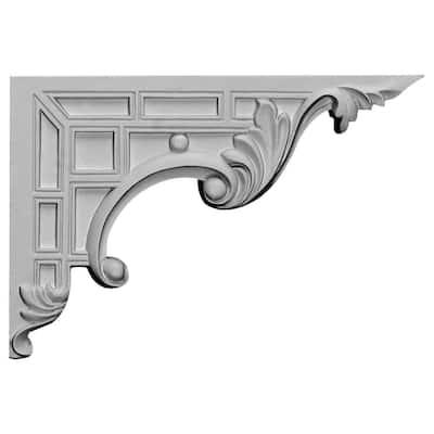 5/8 in. x 9 in. x 6-1/4 in. Polyurethane Right Nestor Stair Bracket Moulding