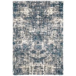 Nordic Blue 8 ft. x 10 ft. Abstract Shag Area Rug