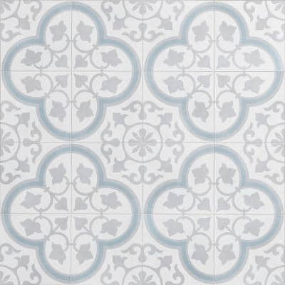 Aster Silver Square 9 in. x 9 in. Matte Porcelain Floor and Wall Tile (10.65 sq. ft./Case)