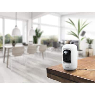 1080P Wired Indoor Pan and Tilt Smart Security Camera with 2-Way Talk and True Detect Heat and Motion Detection