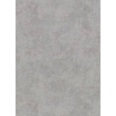 Hereford Grey Faux Plaster Vinyl Strippable Roll (Covers 60.8 sq. ft.)