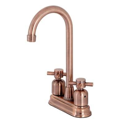 Concord 2-Handle Bar Faucet in Antique Copper