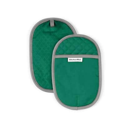 Asteroid Cotton Green Pot Holder (2-Pack)