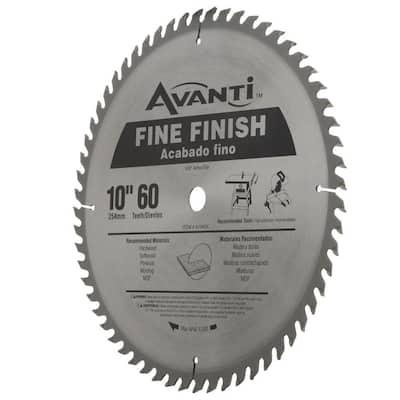 10 in. x 60-Tooth Fine Finish Circular Saw Blade