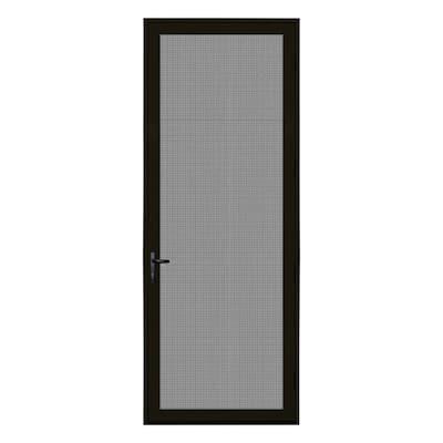 36 in. x 96 in. Bronze Surface Mount Left-Hand Ultimate Security Screen Door with Meshtec Screen