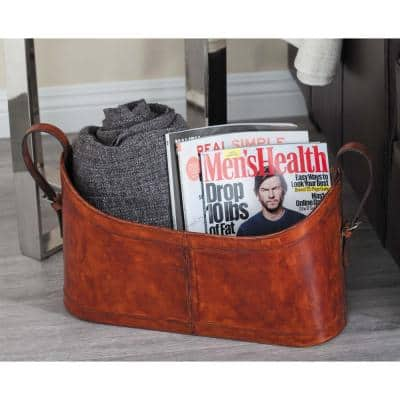 Leather Magazine Racks Home Accents The Home Depot