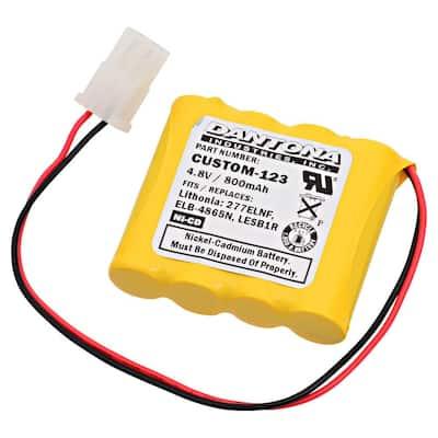 Dantona 4.8-Volt 800 mAh Ni-Cd battery for Lithonia - 277ELNF Emergency Lighting