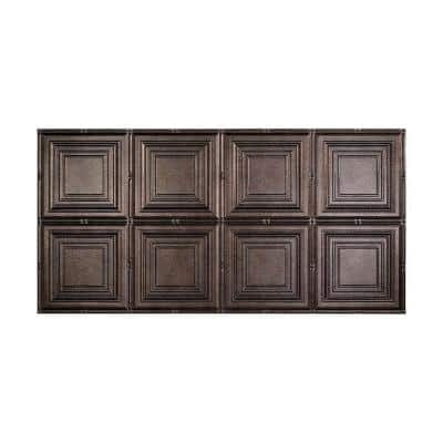 Regalia 2 ft. x 4 ft. Glue Up Vinyl Ceiling Tile in Smoked Pewter (40 sq. ft.)