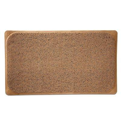 29.5 in. W x 17.25 in. L Loofa Bath Carpet in Mocha