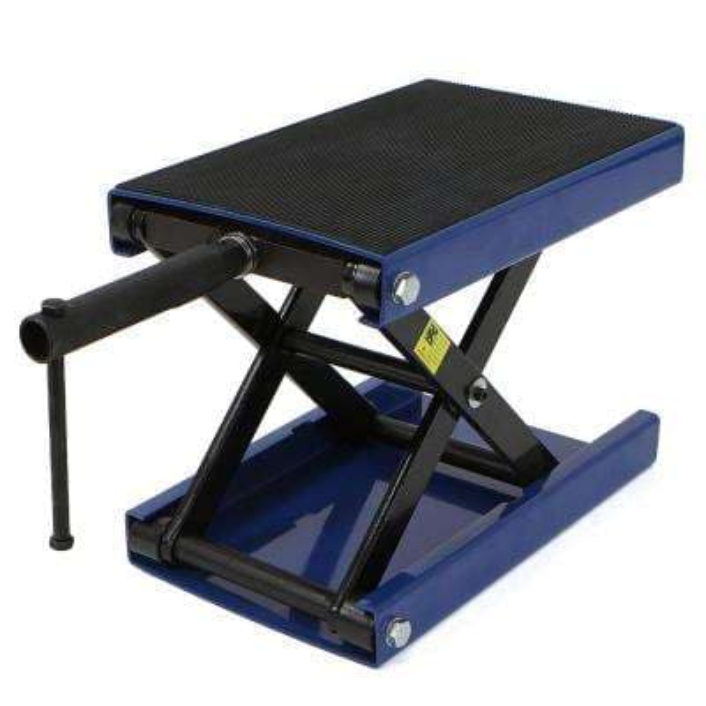 1100 lbs. Wide Deck Scissor Lift Jack Motorcycle Center Hoist Stand for Bike ATV in Blue