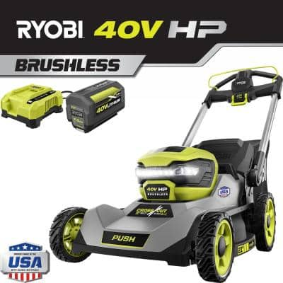 21 in. 40-Volt HP Lithium-Ion Brushless Cordless Walk Behind Push Lawn Mower 7.5 Ah Battery and Rapid Charger Included