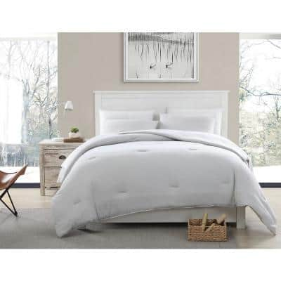 Recycled Blend T-shirt Jersey Gray Cotton Comforter Twin Set
