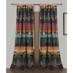 Multi Colored Southwestern Rod Pocket Sheer Curtain - 42 in. W x 84 in. L
