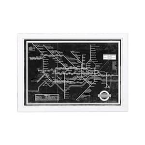 London Underground Map 1934' Framed Travel Art Print 13 in. x 19 in.
