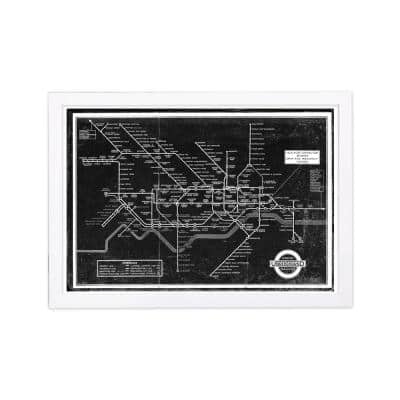 London Underground Map 1934' Framed Travel Art Print 13 in. x 19 in.