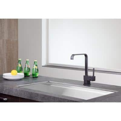 Sabre Single-Handle Standard Kitchen Faucet in Oil Rubbed Bronze