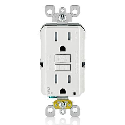 15 Amp Tamper Resistant AFCI Outlet, White (10-Pack)