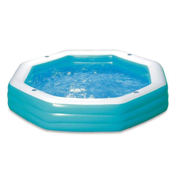 Summer Waves Family 110 In X 110 In Octagon 20 In D Inflatable Pool Kb0106000 The Home Depot