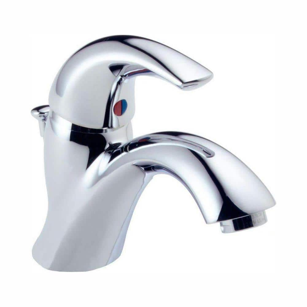 Delta Classic Single Hole Single Handle Bathroom Faucet In Chrome 583lf Wf The Home Depot