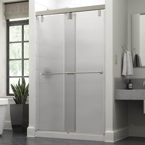 Mod Semi Frameless Sliding Shower Door, Bathroom Shower Doors Home Depot